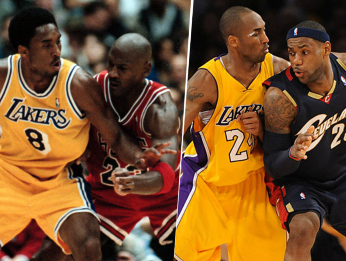Kobe, Jordan y LeBron (Getty Images)