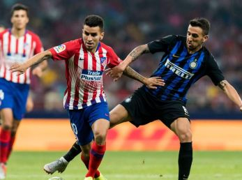Atlético de Madrid e Inter en un cruce reciente.