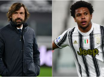 Andrea Pirlo y Weston McKennie (Foto: Getty)