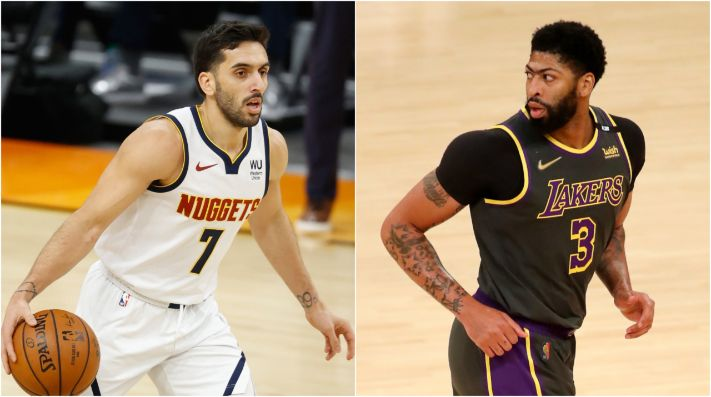Facundo Campazzo y Anthony Davis